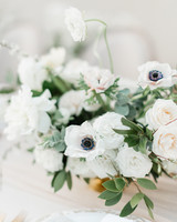 black white wedding centerpiece