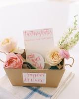 floral Wine Tasting Basket