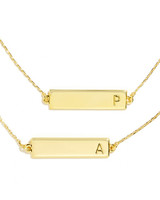 Gold-Plated BaubleBar Initial Bracelet
