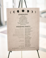 Celestial Wedding Program