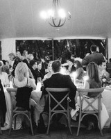 wedding reception bride and groom table black and white