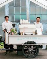 coffee wedding ideas to go coffee shop cart