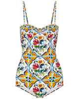 Colorful Patterned Swimsuit