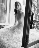 elie saab wedding dress spring 2019 ballgown long sleeves ruffles