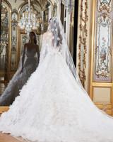 elie saab wedding dress spring 2019 ruffles long sleeves back