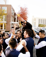 wedding baraat procession welcoming groom