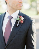 warm-colored boutonniere