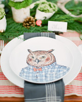 Owl Place Setting, Fall Wedding Ideas