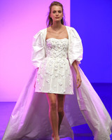 gracy accad fall 2019 short overskirt long sleeve wedding dress