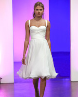 gracy accad fall 2019 spaghetti strap short with full skirt wedding dress