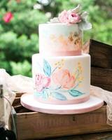 painted pastel cake
