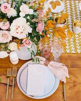 hanna will wedding brides place setting