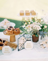 jena donny wedding desserts table