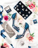 johanna erik wedding accessories shoes earrings flowers