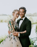 leah michael wedding couple outdoors