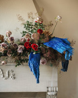 madison kyle wedding mantel flowers