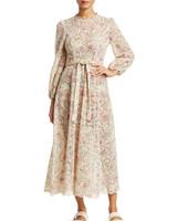 "Zimmermann ""Honour"" Floral High-Neck Cotton Dress"