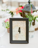 framed map table number