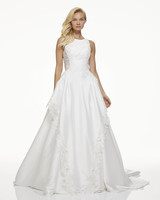 mark zunino fall 2019 a line high neck sleeveless floral lace