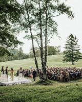 birch grove outdoor wedding ceremony space