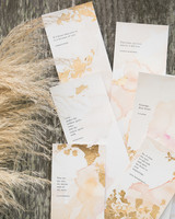 gold leaf invitations