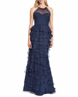 Badgley Mischka Ruffle Gown