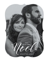 newlywed holiday card first noel