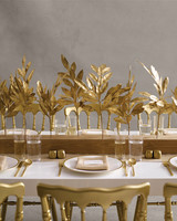 Gold Laurel Branch Centerpieces
