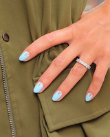 something blue reverse French manicure