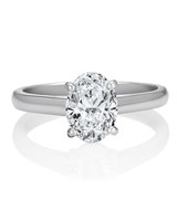 De Beers Oval Engagement Ring