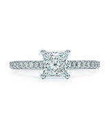 princess cut ring tiffany co silver