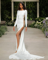 pronovias wedding dress spring 2019 side sheer long sleeve