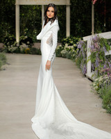 pronovias wedding dress spring 2019 sheath long sleeve