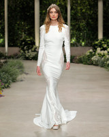 pronovias wedding dress spring 2019 long sleeve sheath