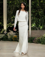 pronovias wedding dress spring 2019 long sleeve bateau neck