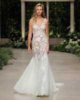 pronovias wedding dress spring 2019 sheer lace trumpet