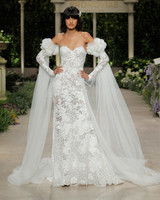pronovias wedding dress spring 2019 lace detached sleeves