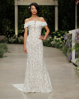 pronovias wedding dress spring 2019 off-the-shoulder