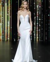 pronovias strapless plunging neckline wedding dress spring 2020
