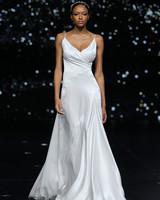 pronovias spaghetti strap a-line wedding dress spring 2020