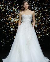 pronovias strapless beaded ballgown wedding dress spring 2020