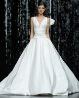pronovias sleeveless v-neck ballgown wedding dress spring 2020