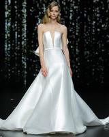 pronovias strapless plunging neckline a-line wedding dress spring 2020