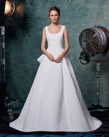 sareh nouri dress fall 2019 scoop neck a-line with back accent