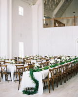 shakira travis wedding reception space tables