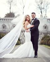 shqipe zenel wedding couple standing on gravel walkway