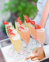 peach strawberry and mango bellinis