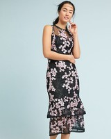 Shoshanna Sleeveless Mother of the Bride Dress with Tiered Skirt