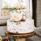 Small Birch Tree Wedding Cake