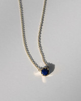 blue round pendant necklace